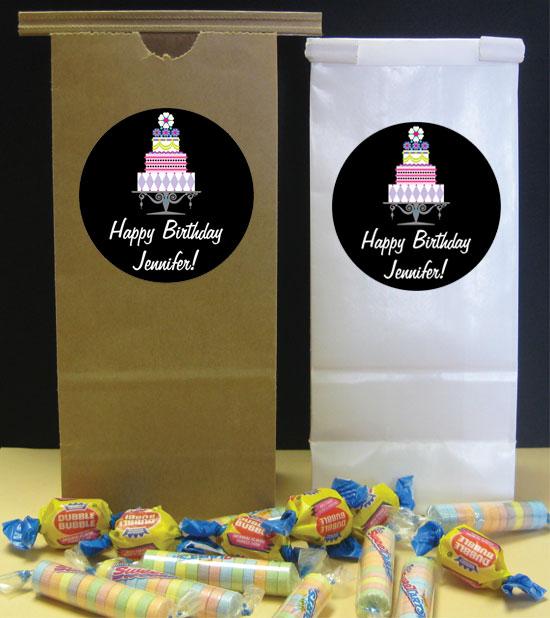 Birthday Cake Theme Party Favor Bag