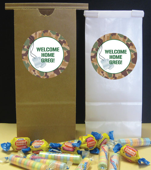 Camouflage Theme Party Favor Bag