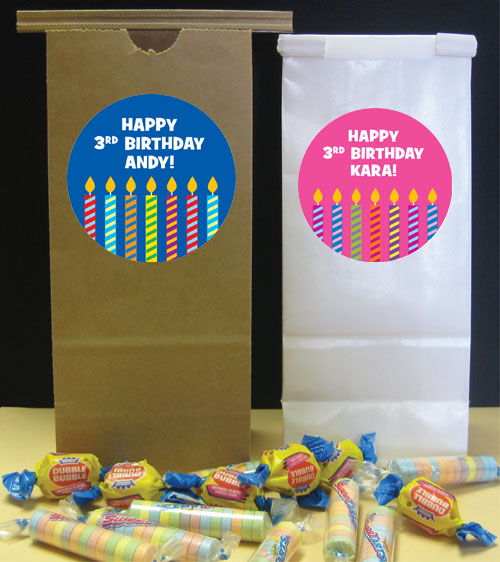 Birthday Candles Theme Favor Bags