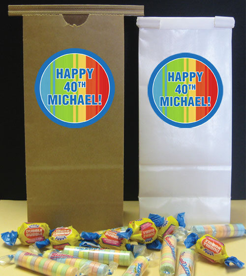 Birthday Celebrate Theme Party Favor Bag