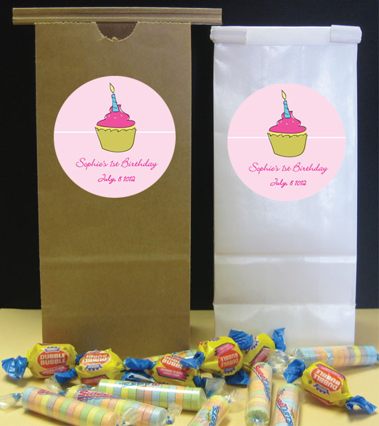 Cupcake Theme Party Favor Bag