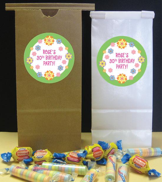 Flower Theme Party Favor Bag
