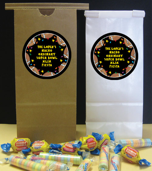 Super Bowl Fiesta Party Favor Bag / A great favor bag for a fiesta theme party