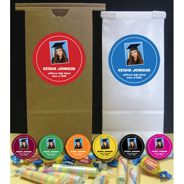 Graduation Photo Custom Favor Bags