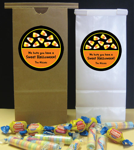 Halloween Sweet Candy Corn Party Favor Bag / We'd fill this bag with candy corn