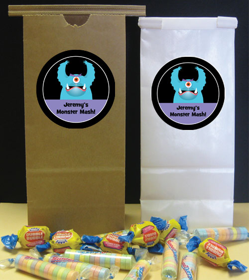 Halloween Monsters Party Favor Bag