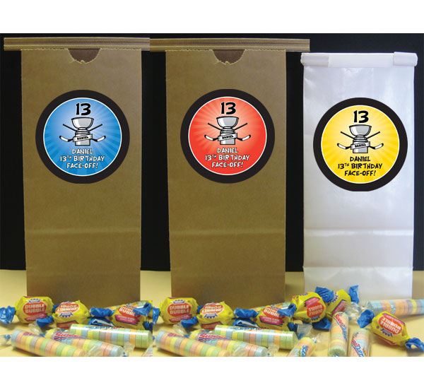 Hockey Cup Theme Favor Bag