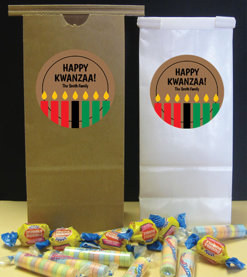 Kwanzaa Kinara Candles Party Favor Bag