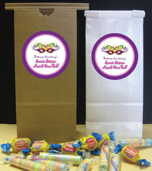 Mardi Gras Ball Theme Favor Bag