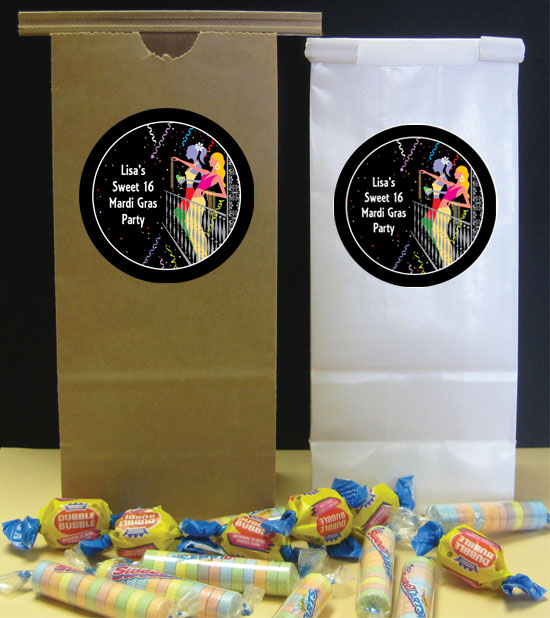 A Mardi Gras Balcony Theme Party Favor Bag