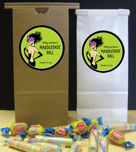 A Masquerade Voodoo Theme Favor Bag