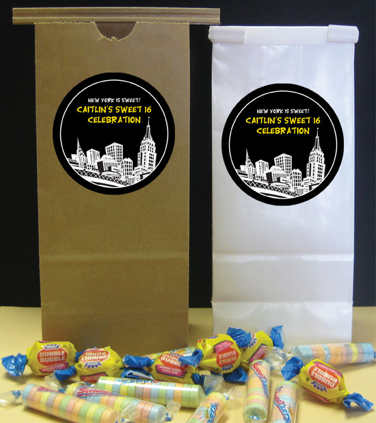 New York Party Theme Favor Bag / Perfect for New York theme goodies