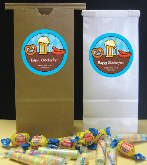 Oktoberfest Food Theme Favor Bag