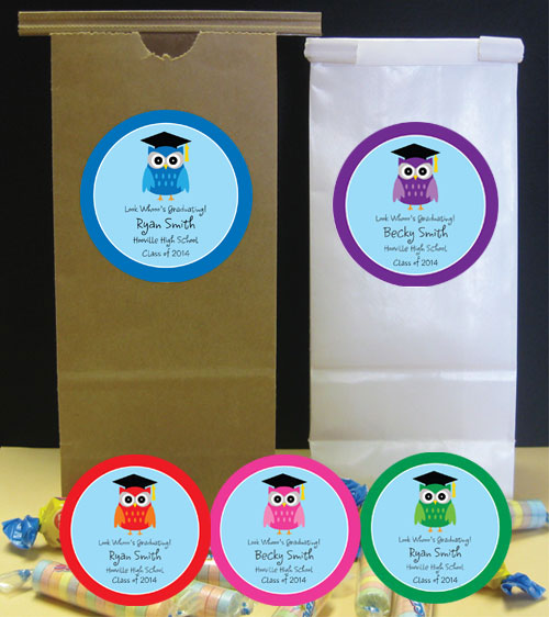 Graduation Owl Party Favor Bag