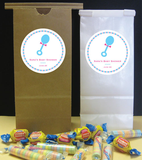 Baby Rattle Theme Party Favor Bag