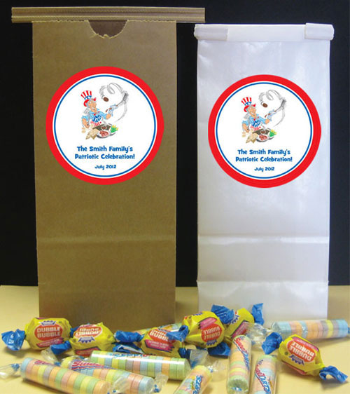 American Patriotic BBQ Theme Party Favor Bag
