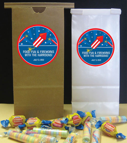 Fireworks Theme Party Favor Bag