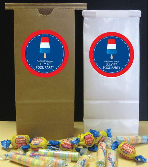 Patriotic Popsicle Theme Favor Bag