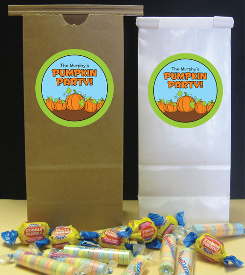 Pumpkin Party Theme Favor Bag