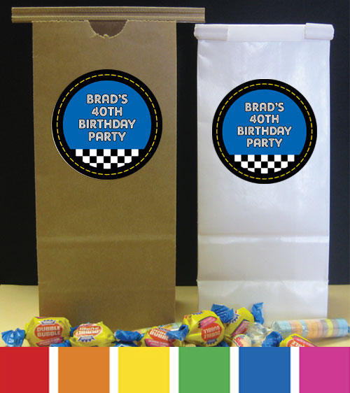 Car Racing Theme Favor Bag