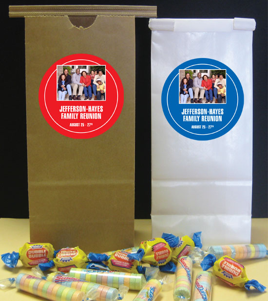 A Custom Family Reunion Photo Favor Bag
