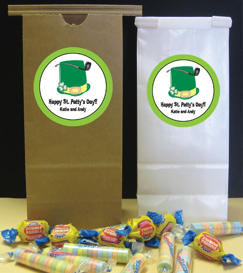 St. Patrick's Day Derby Theme Favor Bag
