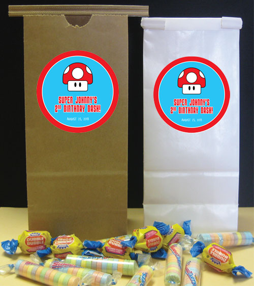 Birthday Super Mario Brothers Theme Party Favor Bag / A party favor bag for a Super Mario Brother's party
