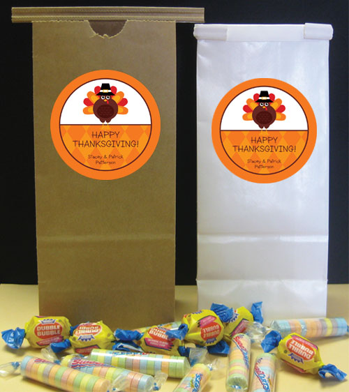 Thanksgiving Celebration Party Favor Bag