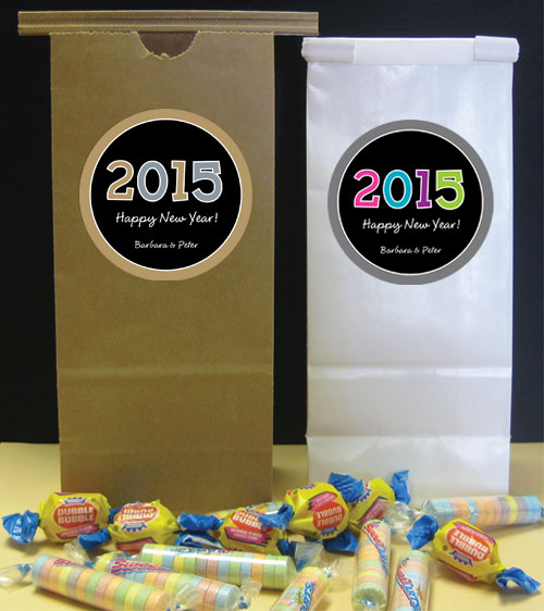 2015 New Year's Celebration Party Favor Bag