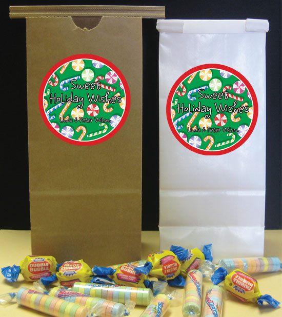 Christmas Candy Theme Party Favor Bag