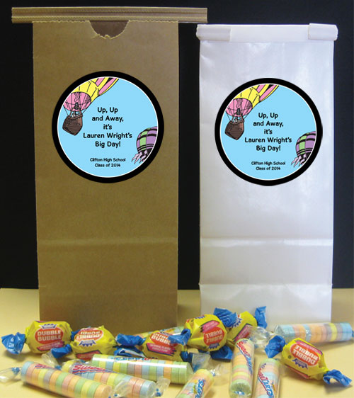 Graduation Up Up and Away Theme Party Favor Bag