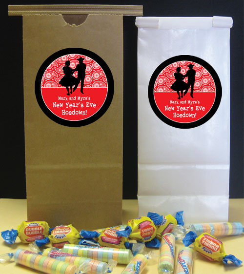 Western Hoedown Theme Custom Favor Bag