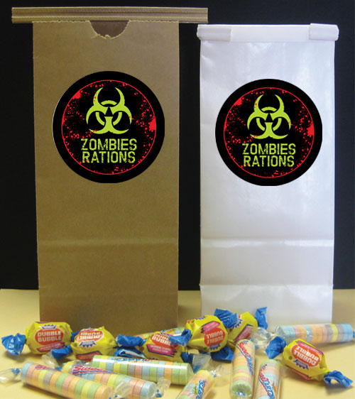 Zombie Party Favor Bag / A perfect bag for all your zombie theme favors.