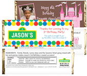 Custom 1st birthday candy bar wrappers