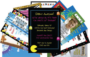 Personalized theme party invitations