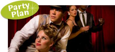 Roaring Twenties Birthday Party. Plan a Speakeasy theme Birthday Party. Ideas, invitations, party supplies and decorations.