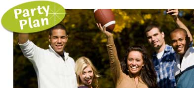 Football party ideas. How to host a football theme party.