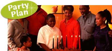 Kwanzaa celebration. Kwanzaa party ideas and decorations.