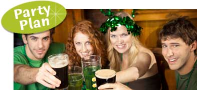 St. Pats bar decorating ideas. Restaurant decorating for St. Patricks Day. St. Pats restaurant promotion ideas.