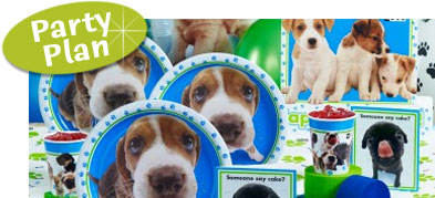 Puppy Birthday Party. Puppy themed kid's birthday party. Great ideas for invitations, favors and party supplies.