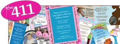 Baby shower invitations. Baby shower favors.