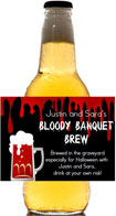 personalized bloody banquet beer bottle label