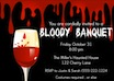 personalized bloody banquet invitations