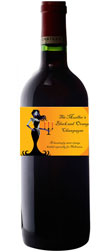 personalized black and orange ball wine bottle label