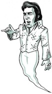 life size elvis ghost cutout