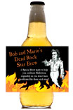 personalized dead rock star beer bottle label