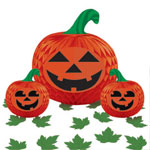 Halloween pumpkin centerpiece set