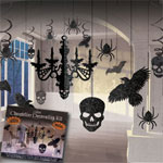 Black Halloween Chandelier Hanging Kit