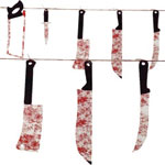 Halloween bloody weapon garland
