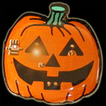 L.E.D. Pumpkin Light Up Pins